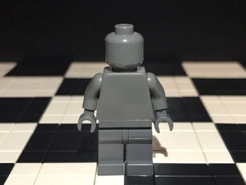Legs Monochrome Torso Lego Plain Dark Bluish Grey Minifigure Head Hands