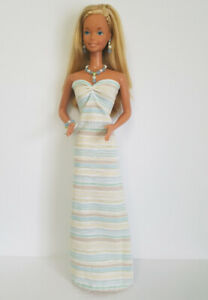 Fits-SUPERSIZE-BARBIE-Doll-Clothes-Pastels-GOWN-and-JEWELRY-18-034-HM-NO-DOLL-d4e