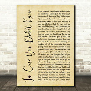 Just Pretend Rustic Script Song Lyric Quote Print