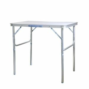 Klapptisch Campingtisch Beistelltisch Aluminium Silber 75 x 55 x 60 cm