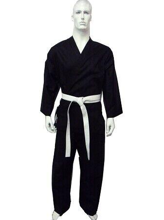 DRAGON Karate GI Martial Arts Uniform Black 8Oz Kids to Adults Size