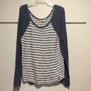 Maroon Marled Lace Hem Granny Shabby Chic Oversize Pullover 293 mv Sweater M L