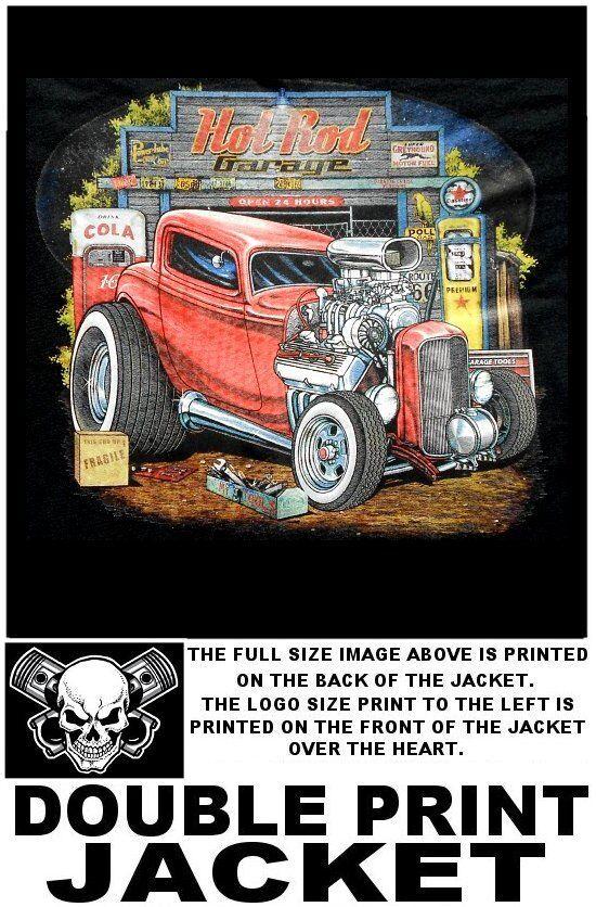 Hot  Street Rat Rod garaje 1932 Coupe Soplador Hemi V8 gas bomba cráneo Chaqueta WS158  grandes ahorros
