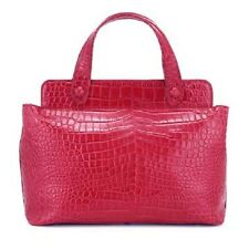 Authentic LULU GUINNESS Red Leather Mock Croc HILLARY Bag- 2 Left -Make an Offer