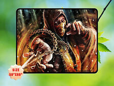 "MORTAL KOMBAT X SCORPION FLEECE BLANKET HOME BED GIFT SIZE 50""X60"""