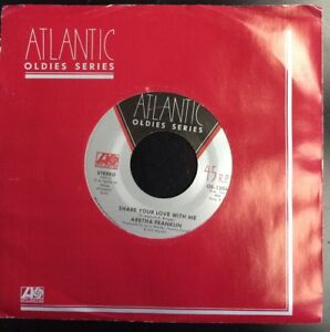 Details about ARETHA FRANKLIN Share Your Love With Me / Day Dreaming (Vinyl  45) NEAR MINT