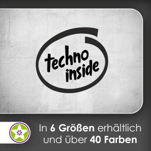 waf1237 Aufkleber techno inside Wandtattoo KIWISTAR