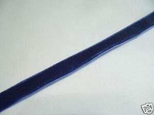 5m x 6mm Velvet Ribbon : 75 Rich Blue