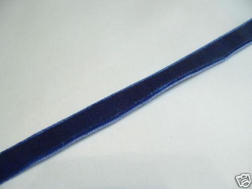 5m X 6mm cinta de terciopelo 75 Azul Rico