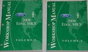 2008 ford edge lincoln mkx service shop manual set w. Black Bedroom Furniture Sets. Home Design Ideas