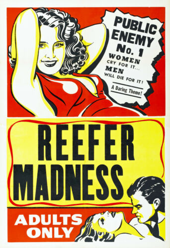A3+ Classic Vintage REEFER MADNESS Film Movie Poster Various re-print A4 A3