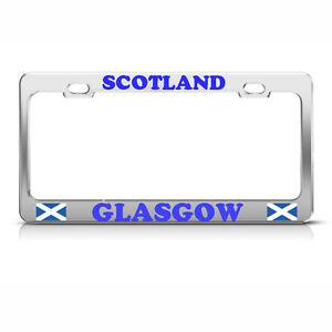 GLASGOW SCOTTISH SCOTLAND FLAG Heavy Duty Chrome Metal ...