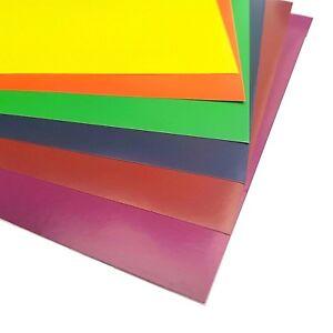 10-x-A4-CARTA-COLORATA-Peel-amp-Stick-Adesivo-Appiccicoso-Sostenuto-FOGLI-Cardmaking