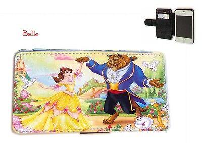 Snow White,Belle,Aurora,Cinderella leather phone case Samsung S3 S4 Mini S5 Note