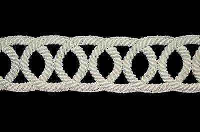 """2"""" White Guipure Textured Trimming Edge Venice Lace Trim By Yardage"""