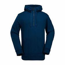 2017 NWT MENS VOLCOM CLINTON FLEECE SNOWBOARD HALF ZIP HOODIE $75 L blue black