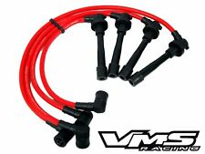 VMS RACING 99-00 HONDA CIVIC SI B16 SPARK PLUG WIRES CABLES RED SET 10.2MM