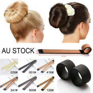 Details About Magic Hair Bun Upstyle Styling Twist Band Snap Tool Formal Donut Maker