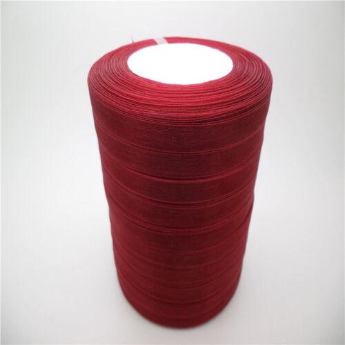 """50 Yd 1 rouleau environ 45.72 m 3//8/"""" 9 mm Satin Bord Sheer Organza Ribbon Bow Craft À faire soi-même Making C"""