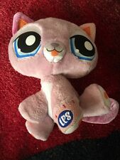 "Littlest Pet Shop Purple Kitty Plush 7"" Stuffed Animal LPS 2009"