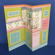 Vintage Barbie REPRODUCTION Dream Kitchen Dinette Learns to Cook Backdrop REPRO