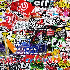 "*24""x60"" JDM Racing Graffiti StickerBomb Vinyl Decal Sticker Wrap Sheet #LIO"