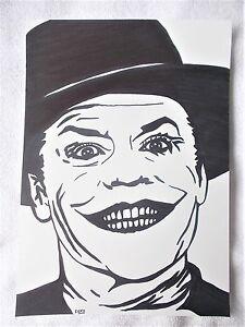 A4 Art Marker Pen Sketch Drawing Jack Nicholson As The Joker From
