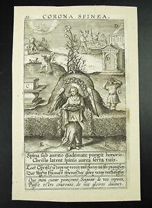 Cornona-Spinea-Engraving-18th-in-Hebrew-Biblical-La-Sainte-Crown-D-039-Thorn