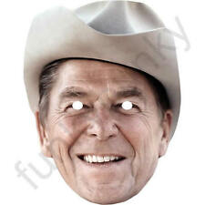 Ronald Reagan Politician Actor Celebrity Card Mask - Masks Pre Cut With Elastic