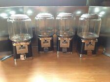 Four Beaver Black And Chrome Gumball Candy Bulk Vending Machine 4lock And 1key