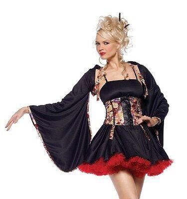 Plum Blossom Geisha Costume, Delux, 6,8,10,12,14 Chinese Costume, Oriental  Asia