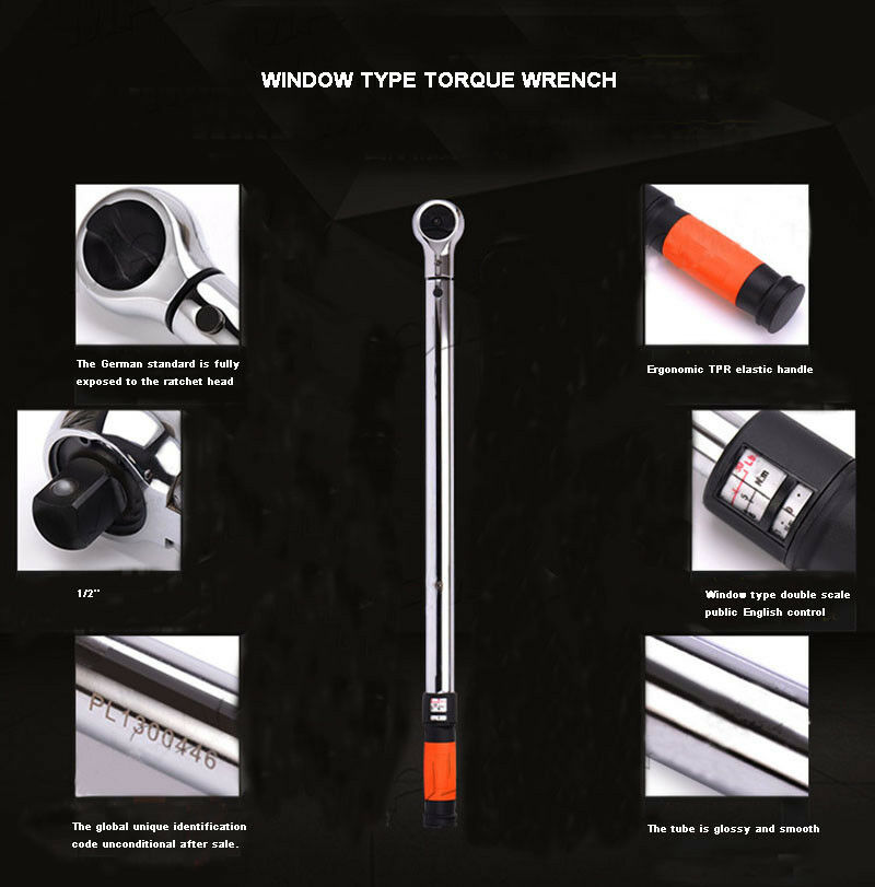 NEW 1 2  Torque Wrench 20-220NM with Storage Case Industrial grade Free Shiping