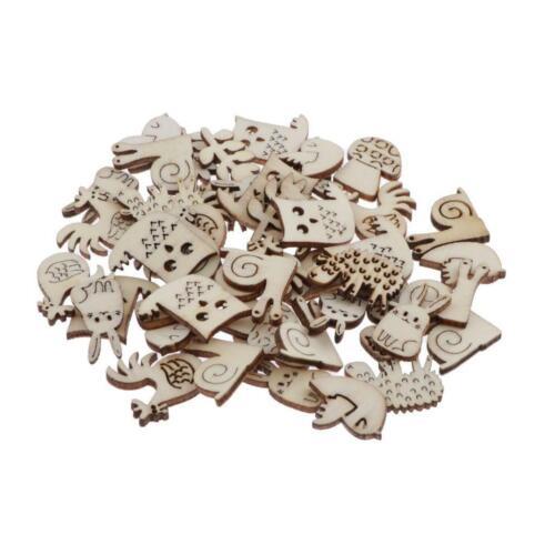 50 pcs Natürliche Mini Holz Deko Holzscheiben Konfetti Streudeko Verzierung