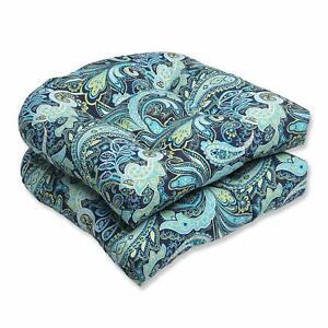 Seat Cushions 2 Piece Pretty Paisley