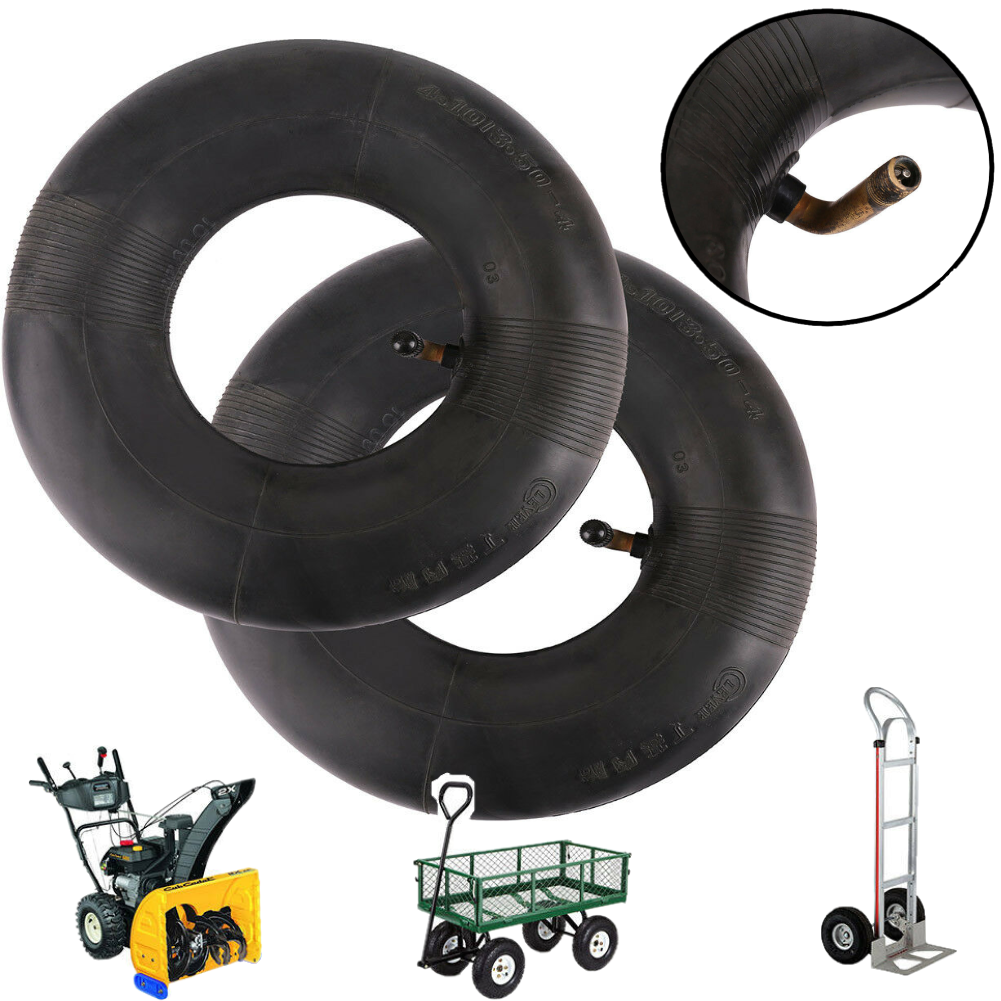 2Pc 4.10 3.50-4 10″ Inner Tube for Hand Truck/ Dolly/ Hand Cart/ Snowblower Tire Home & Garden