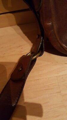BRIDAS Vintage Echt LEDER Tasche 80iger Jahre