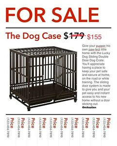 42-034-Heavy-Duty-Dog-Cage-Crate-Kennel-Metal-Pet-Playpen-Portable-w-Tray