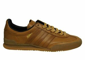 Details about Adidas Originals Jeans MKII Low Brown Leather Lace Up Mens Trainers BB5273