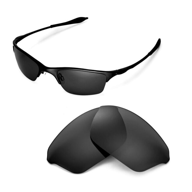 d6d653688f Walleva Polarized Black Replacement Lenses for Oakley Half Wire Sunglasses