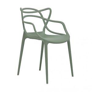 Das Bild Wird Geladen Kartell Masters Philippe Starck  Salbeigruen Besucherstuhl Stuhl