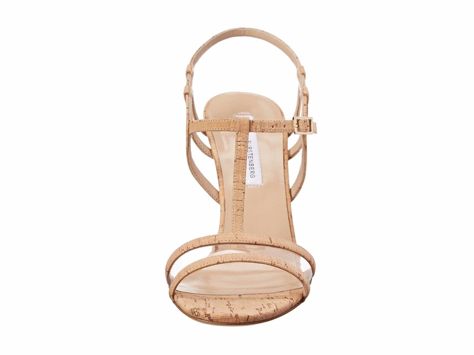 NWOB  Sz 9 M $350 Diane von Furstenberg Viola Too evening Stiletto Cork