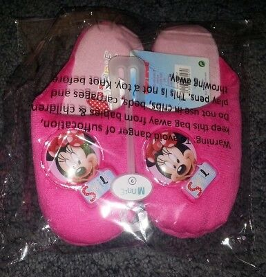 8/9/10 Disney Minnie Mouse Pantuflas. Zapato Rosa traje de noche Vestido nocturno Regalo de desgaste.
