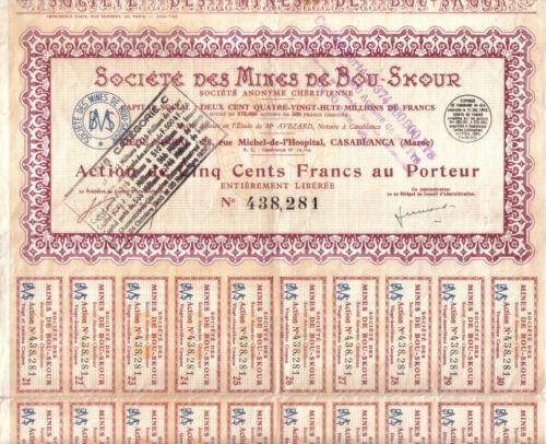Original Africa Morocco 1949 Mining Copper Mines Bou Skour 500f coup Uncancelled