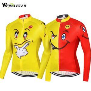 WEIMOSTAR Funny Cartoon Men s Long Sleeve Cycling Jersey Cycling ... 88699b389