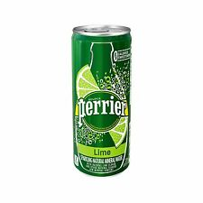 Perrier Sparkling Natural Mineral Water Lime 8.45 Ounce (Pack of 30)