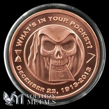 Grim Reaper -Silver Bull 1oz .999 Copper Bullion Rounds