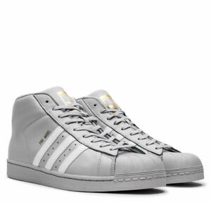 Adidas-Originals-Pro-Model-Mens-Shoes-Gray-White-Gold-Leather-CG5073-SHELL-TOE