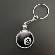 MAGIC 8 BILIARDO BALL CIONDOLO su un anello portachiavi portachiavi Ideale Regalo di Compleanno n381