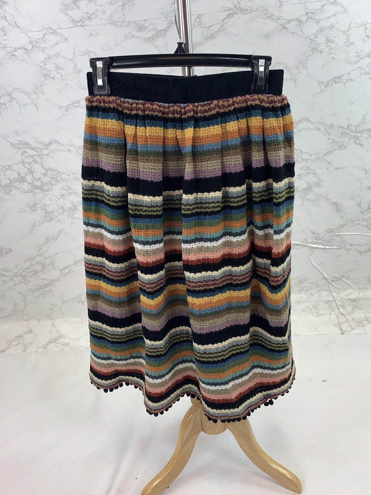 Anthropologie Eri + Ali Women's Knitted Multi color Skirt Size 2