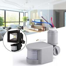 LED Stand PIR 140 Degree Motion Sensor Detector For Security Lighting Gray LN